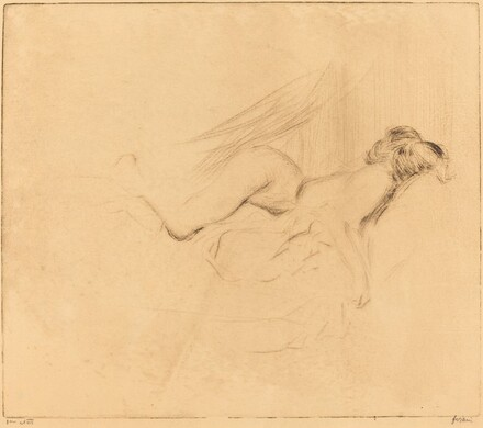 Study of a Nude Woman, Hands Crossed behind Her Head