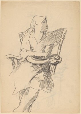 Female Figure Seated in a Chair [recto]