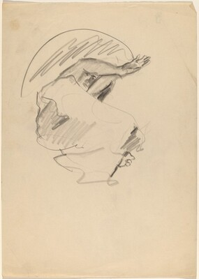 Reclining Figure with Arms Extended Over Head, Knees Bent