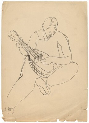 Figure Playing a Lute