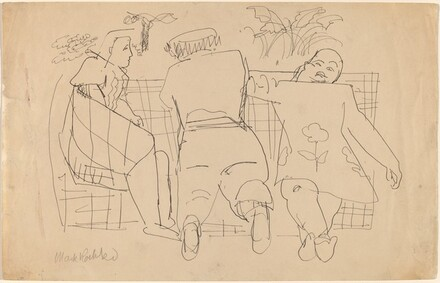 Three Figures on a Sofa