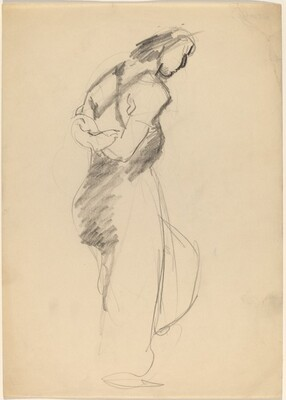 Standing Female with Arms Clasped Behind Back