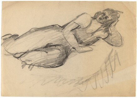 Reclining Female with Head Supported by Right Hand