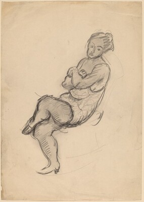 Seated Woman Facing Left