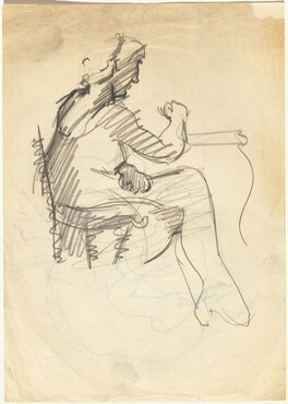Seated Woman with Crossed Legs [recto]