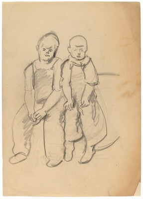 Two Boys Seated