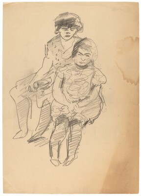 Two Seated Woman