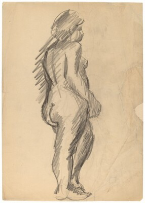 Standing Nude Facing Right