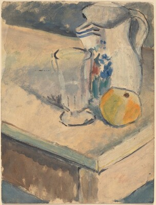 Still Life with Glass, Pitcher, and Orange