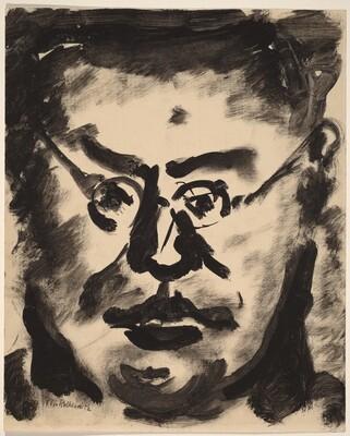 Portrait of a Man Wearing Glasses