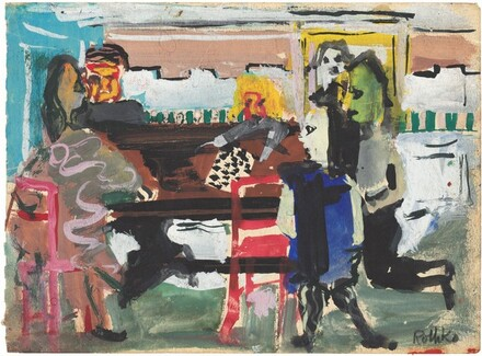 Untitled (Interior with Figures)