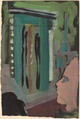 Untitled (Figure Standing at a Portal)