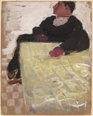 Figure with Arm Resting on Table