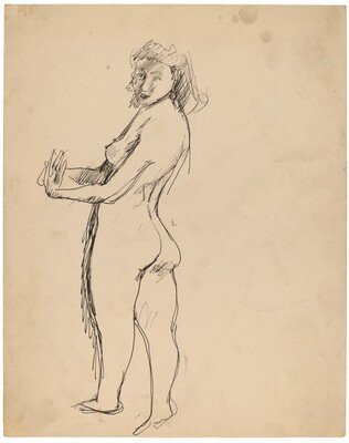 Standing Female Nude Facing Left