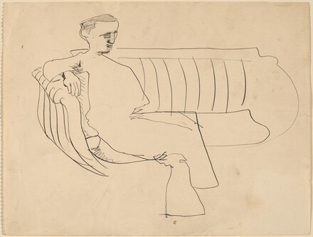 Man Seated on a Sofa