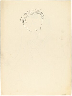 Study of a Head [verso]