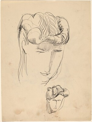 Studies of a Head of a Woman [recto]