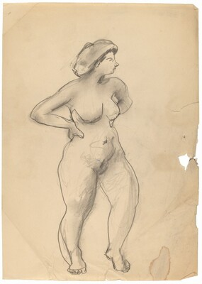 Standing Female Nude Facing Right