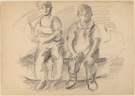 Two Seated Boys