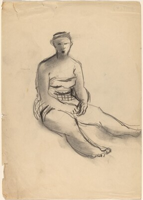 Seated Woman Wearing a Bathing Suit