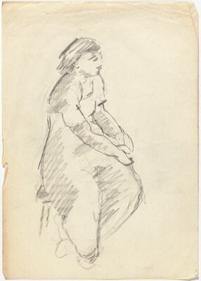 Seated Female Facing Right [recto]