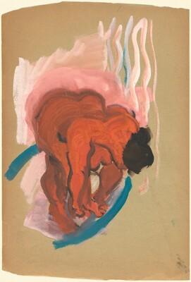Nude Woman Bending Over