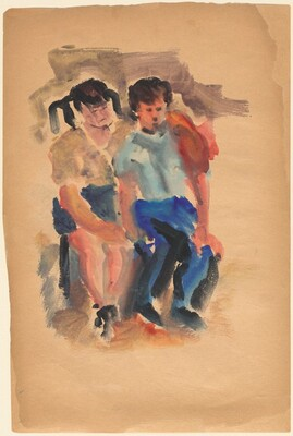 Two Seated Children