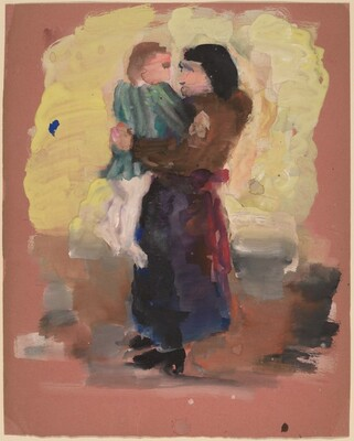 Standing Woman Holding a Child