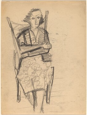 Seated Woman with Arms Crossed [recto]