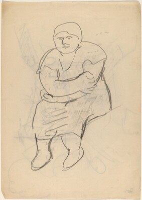 Seated Woman with Arms Crossed in Lap [recto]