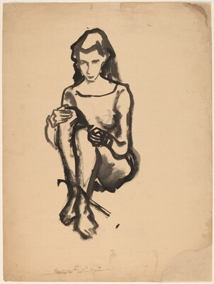 Seated Woman with Hands on Knees
