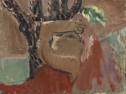 Untitled (woman under tree) [reverse]