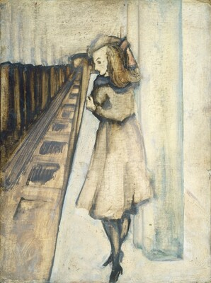 Untitled (woman in subway)
