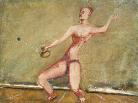 Untitled (man with racket and ball)