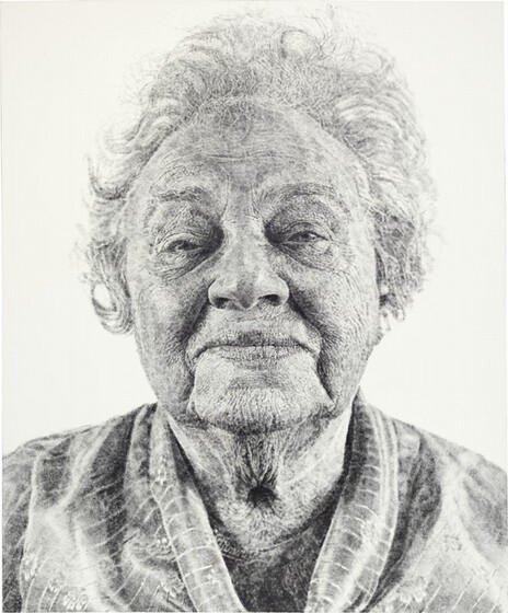 Chuck Close, Fanny/Fingerpainting, 19851985