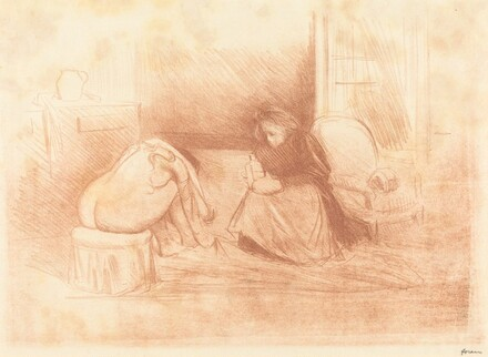 Woman at Her Toilette with Her Maid (second horizontal plate)