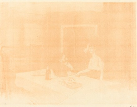 Scene in a Private Room (horizontal plate)