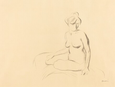 Study of a Nude Woman with Lowered Arms
