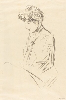 Study of a Seated Woman, Half-Length in Profile