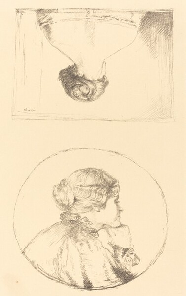 Two Studies of Alice Mary Knewstub (later Mrs. Rothenstein)