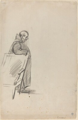Robed Figure Leaning against a Chair