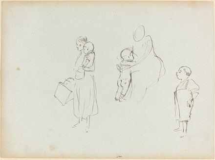 Three Sketches of Women and Children