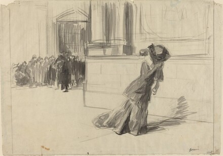 Woman Leaving Court