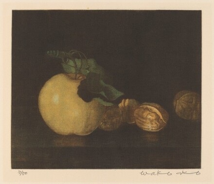 Still Life with Apple and Walnuts