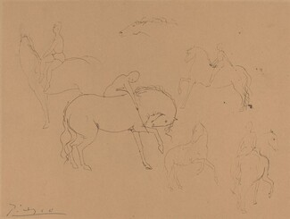 Pablo Picasso, Six Circus Horses with Riders, 1905