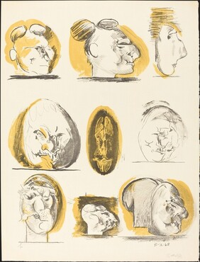Sheet of Studies (heads)