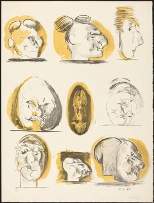 Sheet of Studies (heads)