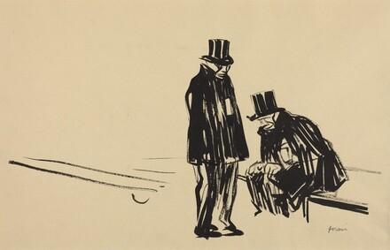 Two Men in Top Hats