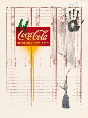 Untitled (Coca-Cola and Grid)