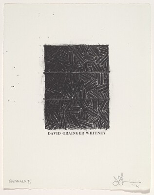 Untitled (Bookplate for David Grainger Whitney)